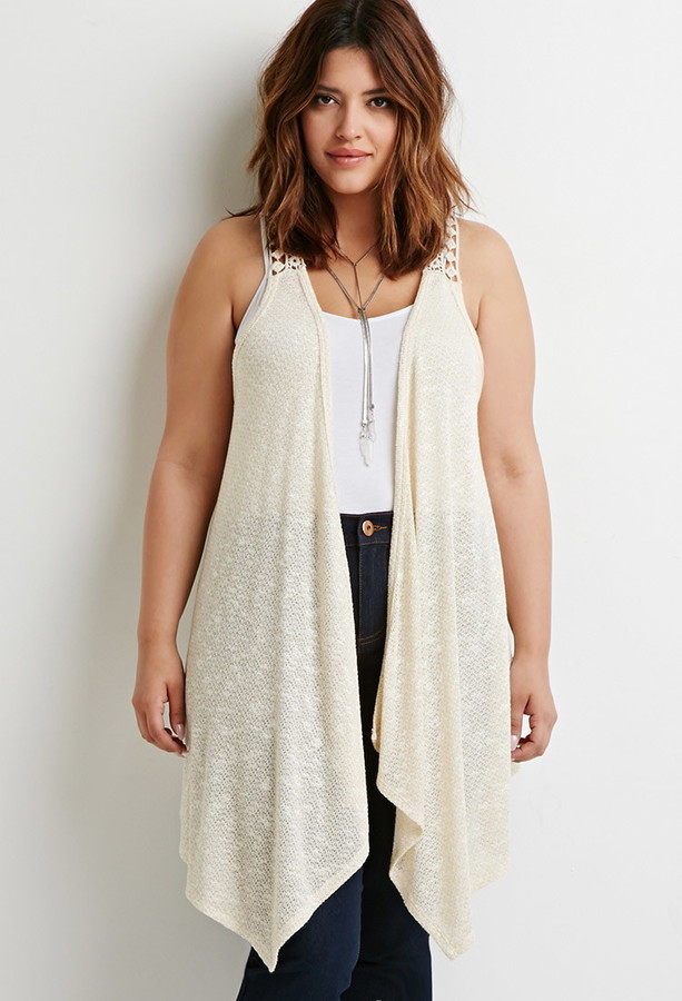 Plus Size Crochet Vest Best Of forever 21 forever 21 Plus Size Crochet Paneled Vest Of Fresh 49 Pics Plus Size Crochet Vest
