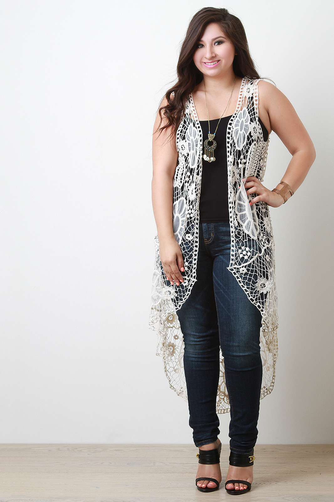 Plus Size Crochet Vest Elegant Plus Sizes Bohemian Floral Knit Crochet Vest Of Fresh 49 Pics Plus Size Crochet Vest