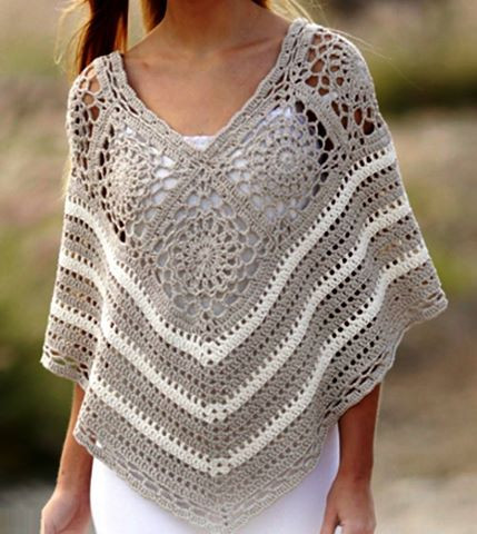 Poncho A Crochet Beautiful Poncho In Crochet Yarn and Step by Step Explanation Of Lovely 49 Ideas Poncho A Crochet