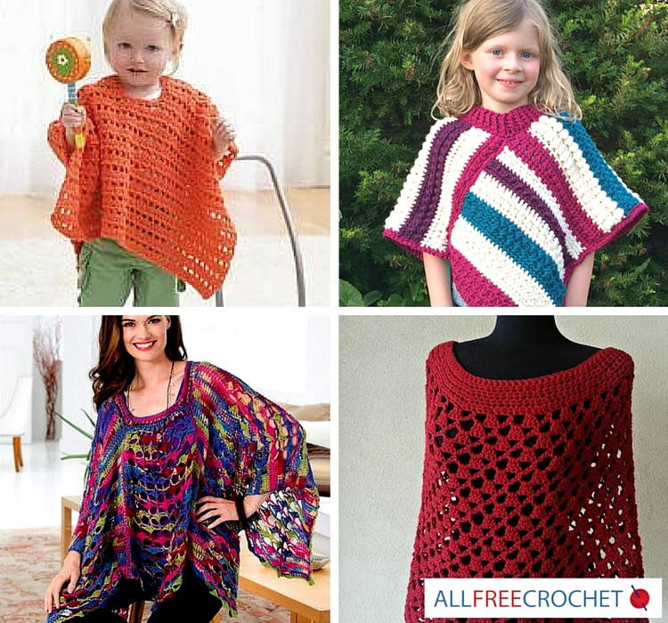 11 Simple Crochet Patterns for Ponchos