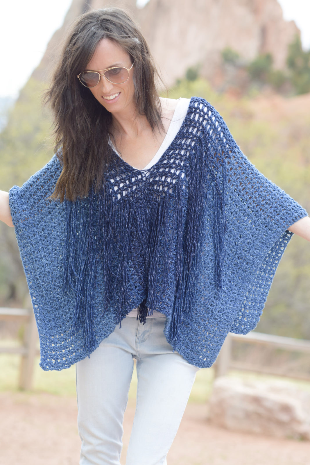 Poncho Crochet Pattern Lovely Azul V Mesh Easy Crochet Poncho Pattern – Mama In A Stitch Of Attractive 42 Ideas Poncho Crochet Pattern