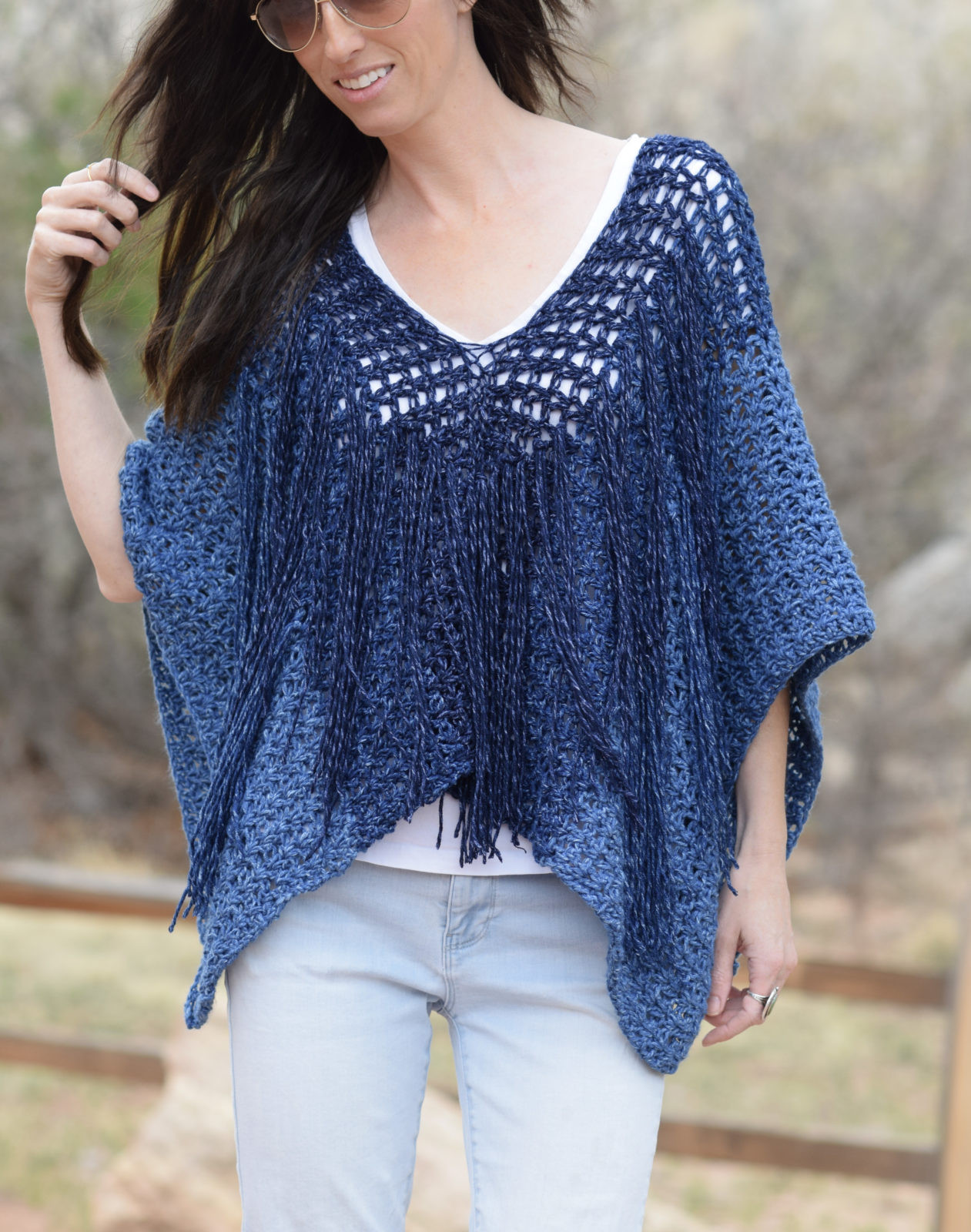 Poncho Crochet Pattern New Azul V Mesh Easy Crochet Poncho Pattern – Mama In A Stitch Of Attractive 42 Ideas Poncho Crochet Pattern