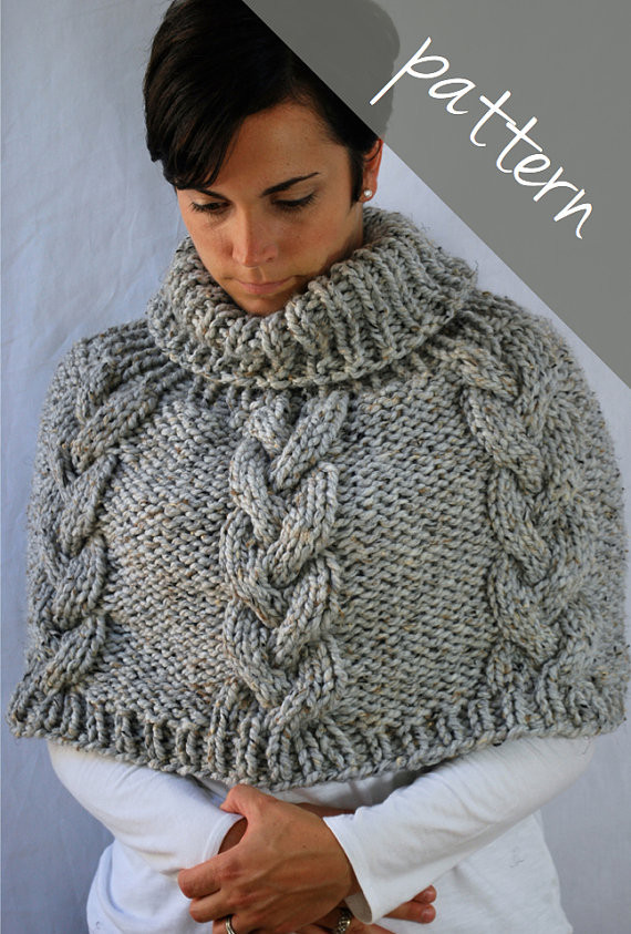 Poncho Knitting Patterns Awesome Knitting Pattern Braided Cable Poncho by Of Poncho Knitting Patterns Fresh Click for Close Up Anything and Everything