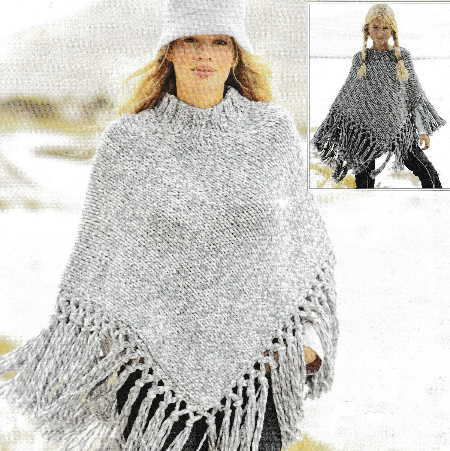 Poncho Knitting Patterns Beautiful Vintage Knitting Pattern La S and Girls Fringed Poncho Of Poncho Knitting Patterns Fresh Click for Close Up Anything and Everything