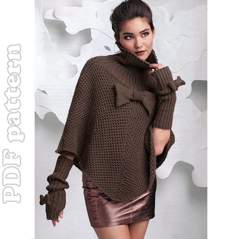 Poncho Knitting Patterns Luxury English Poncho and Fingerless Gloves Knitting Pattern Pdf Of Poncho Knitting Patterns Fresh Click for Close Up Anything and Everything