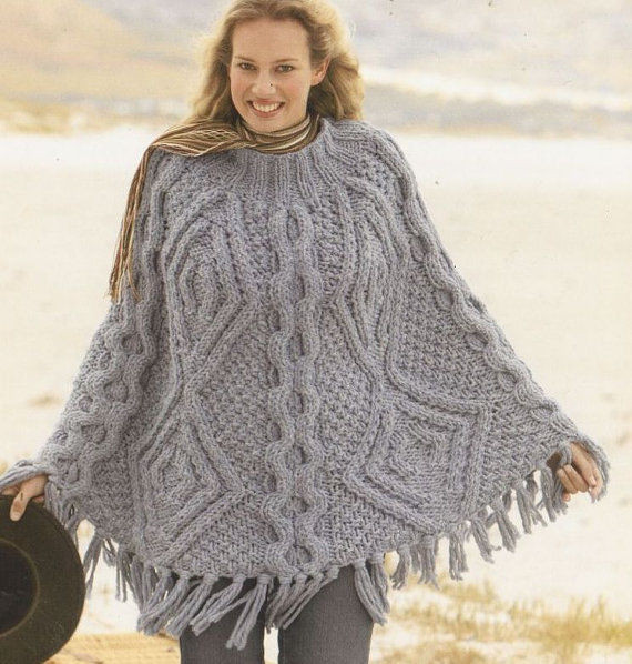 Poncho Knitting Patterns Unique La S Mega Super Chunky Cable Aran Poncho Knitting Of Poncho Knitting Patterns Fresh Click for Close Up Anything and Everything