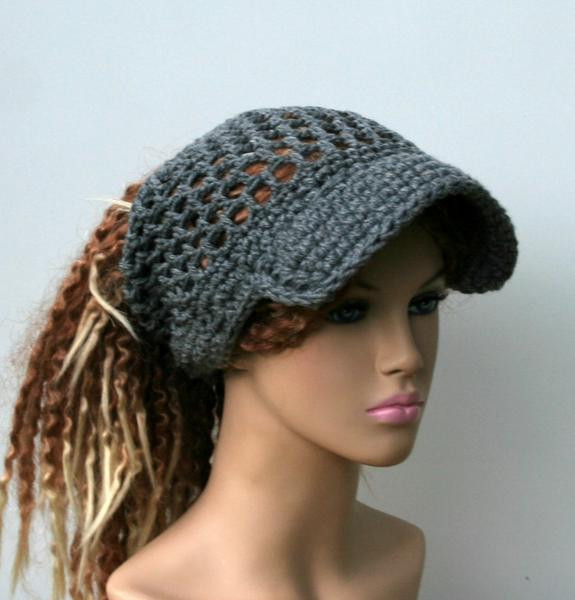 Ponytail Beanie Hat New Open Stitch Custom Color Ponytail Hat Visor Dread Tube Of Amazing 48 Pictures Ponytail Beanie Hat