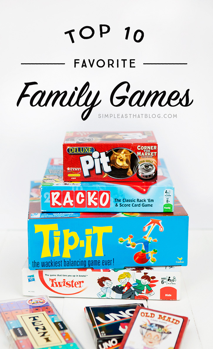 Top 10 Favorite Family Games