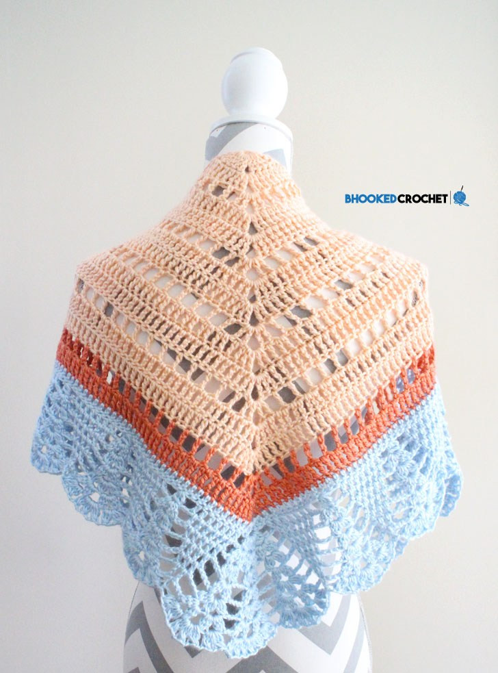 Learn How to Crochet the Crochet fort Shawl by