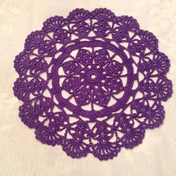 Purple Doilies Best Of 9 orchid Deep Purple Plum Doily Hand Crocheted Dining Of Perfect 44 Photos Purple Doilies