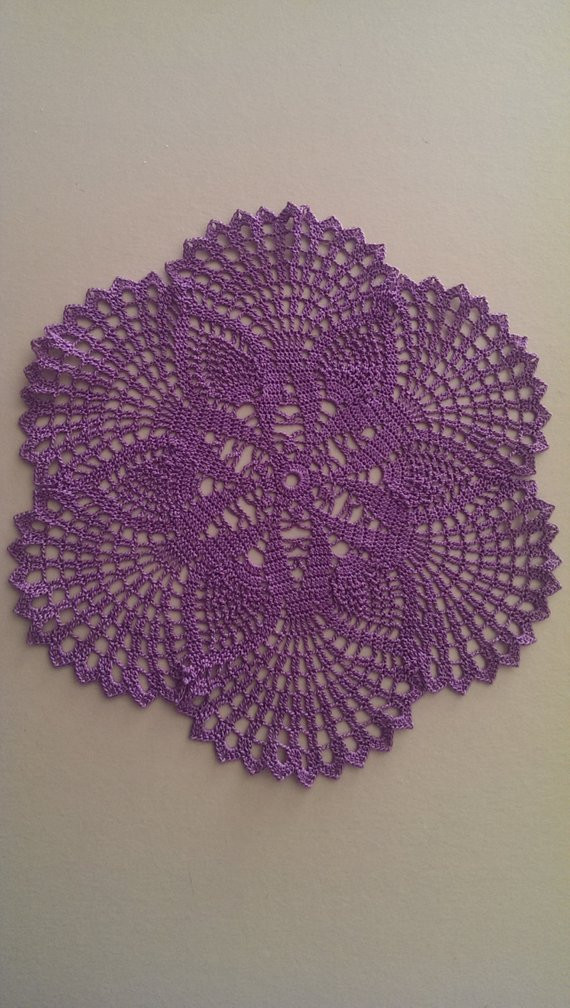 Purple Doilies Inspirational Crochet Tablecloth Doily Purple Crocheted Table by Of Perfect 44 Photos Purple Doilies