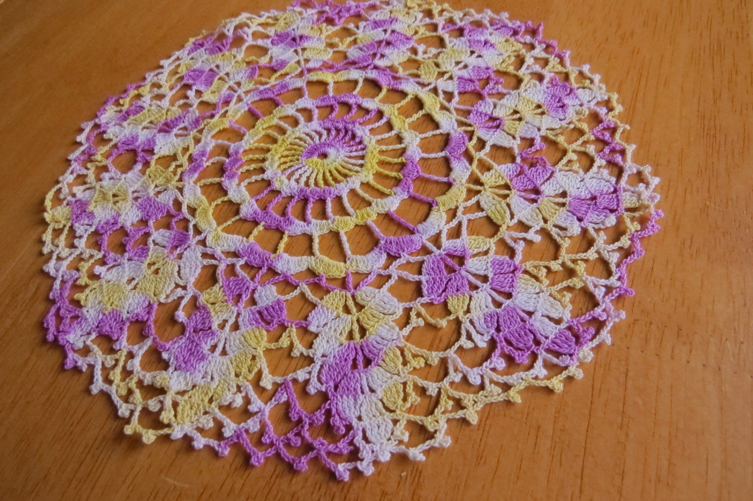 Purple Doilies Inspirational Vintage Doily Purple Yellow White Hand Crocheted Doily Of Perfect 44 Photos Purple Doilies