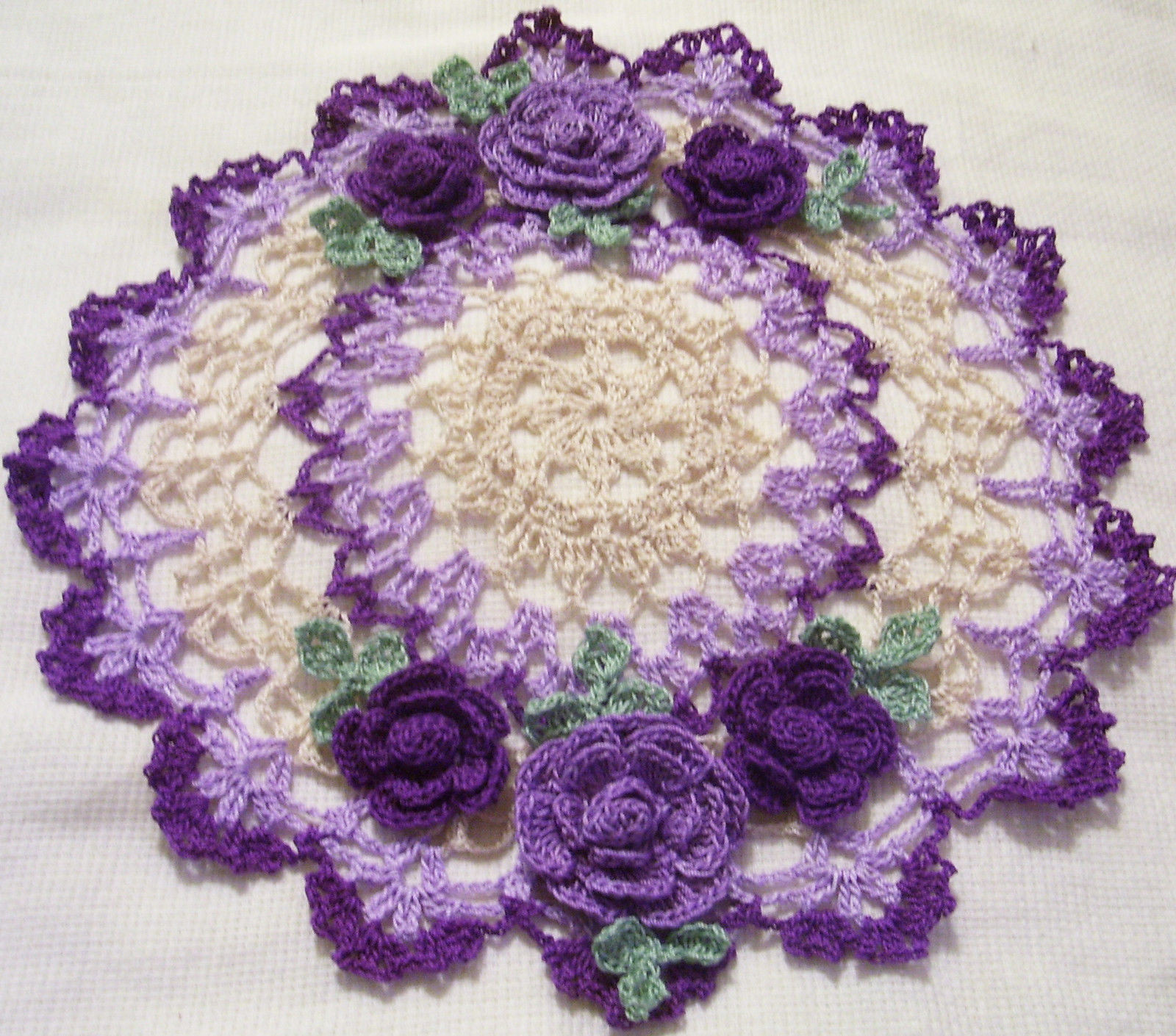 Purple Doilies New Purple Roses Crocheted Doily by Aeshagirl • Cad 40 17 Of Perfect 44 Photos Purple Doilies