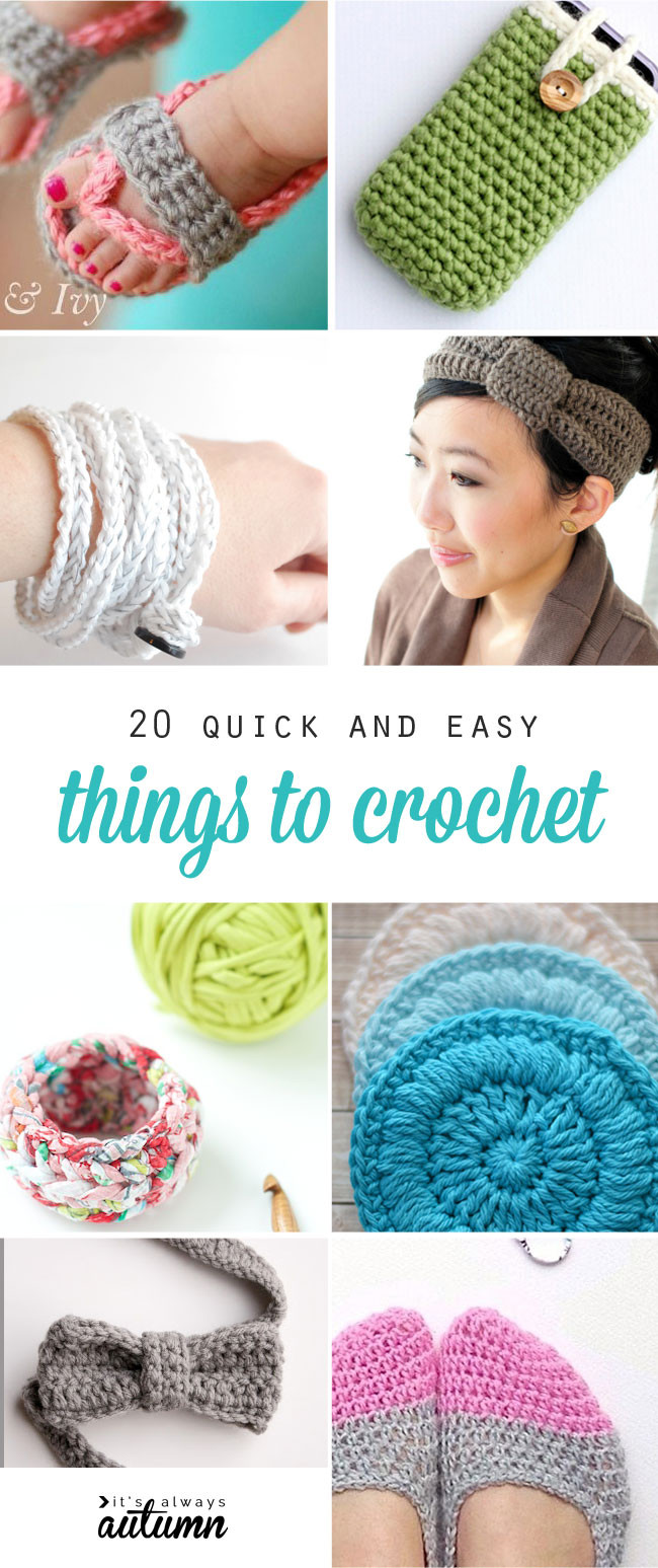 20 quick easy and beautiful things to crochet It s