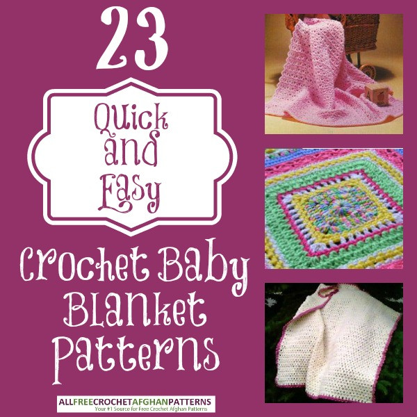 quick and easy crochet baby afghan pattern