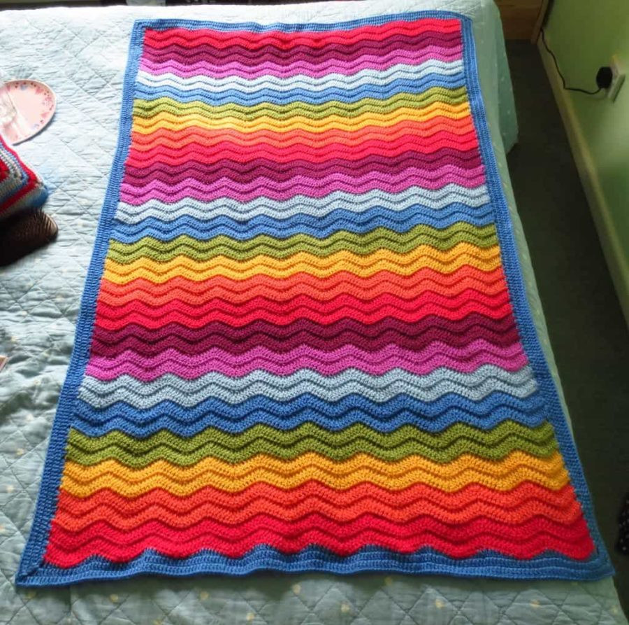 Rainbow Baby Blanket Awesome Rainbow Ripple Crochet Blanket Pattern Video Tutorial Of Charming 42 Ideas Rainbow Baby Blanket
