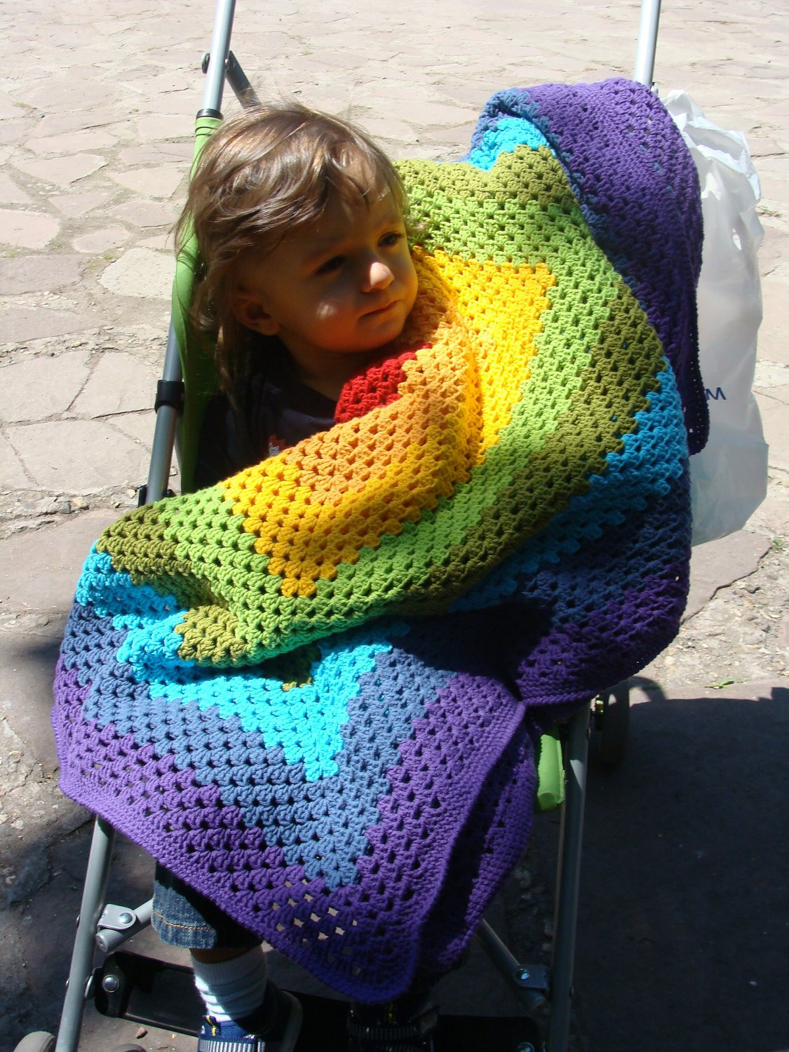 Rainbow Baby Blanket Beautiful Rainbow Crochet Baby Blanket Granny Square by Hopeblankets Of Charming 42 Ideas Rainbow Baby Blanket