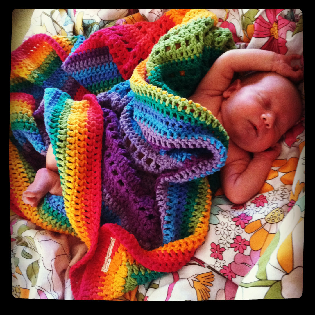 Rainbow Baby Blanket Best Of Rainbow Cotton Crocheted Blanket by Peacelovecreations Of Charming 42 Ideas Rainbow Baby Blanket