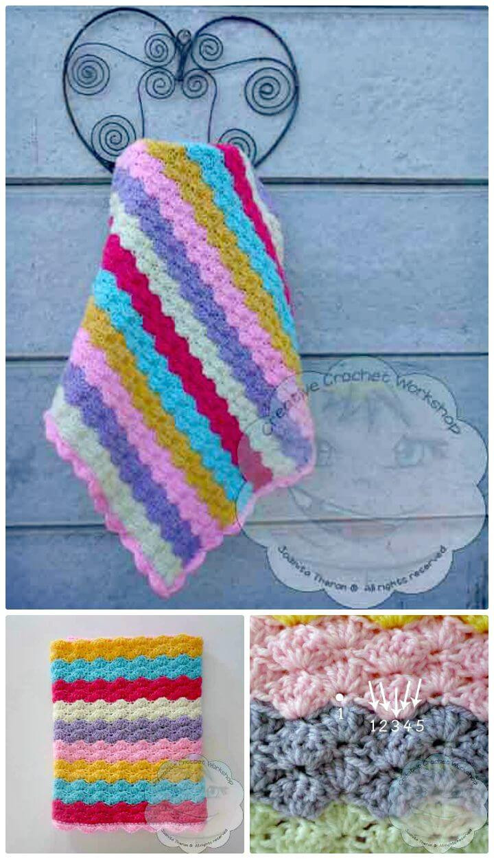 Rainbow Baby Blanket Crochet Pattern Awesome 25 Free Crochet Rainbow Patterns for Beginners – 101 Crochet Of Rainbow Baby Blanket Crochet Pattern Awesome 25 Best Ideas About Rainbow Crochet Blankets On Pinterest