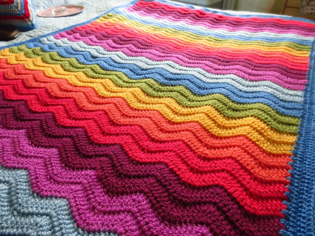 Rainbow Baby Blanket Crochet Pattern Awesome Big Rainbow Ripple Of Attractive 46 Models Rainbow Baby Blanket Crochet Pattern