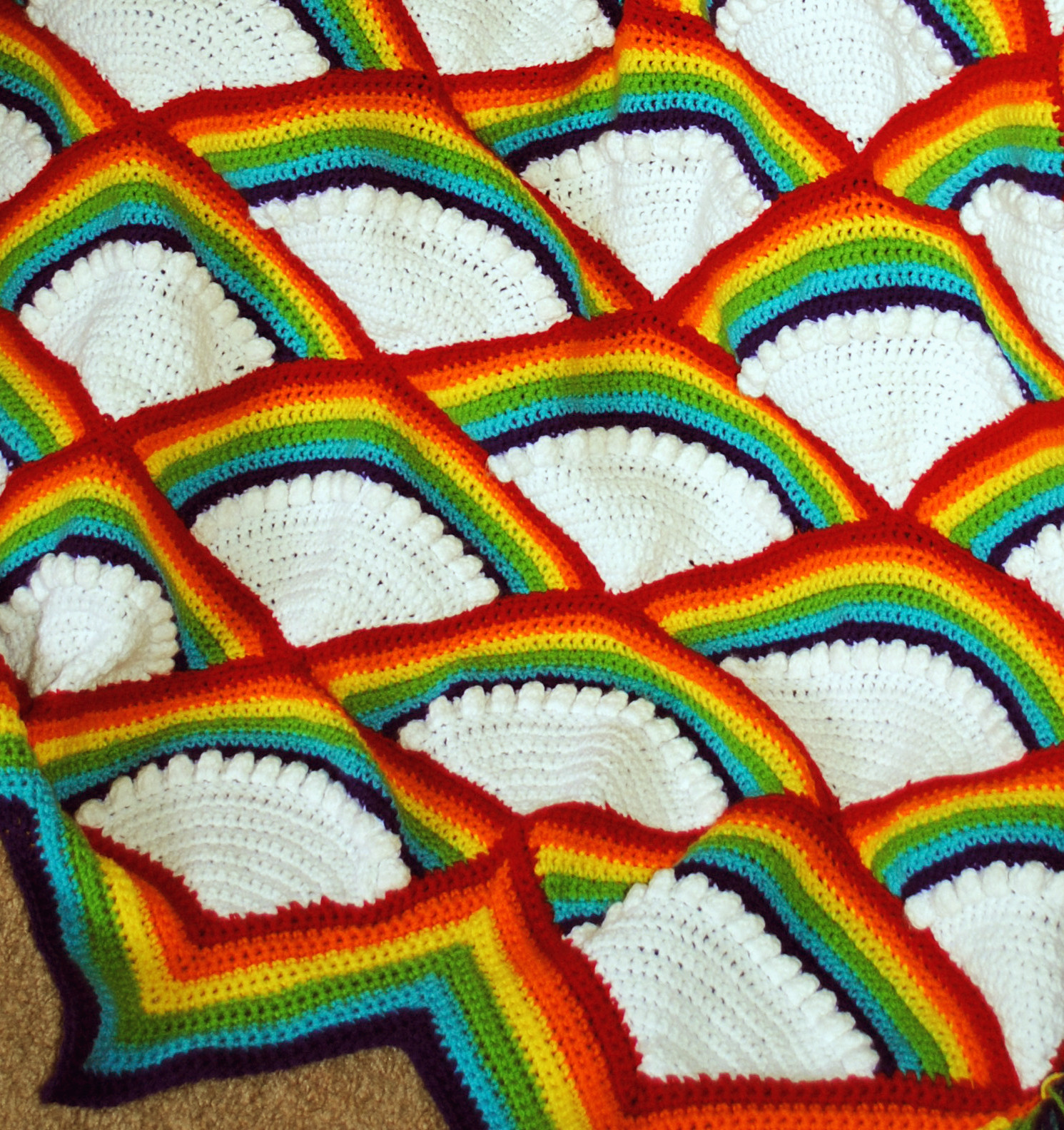 Rainbow Baby Blanket Crochet Pattern Awesome Crochet Rainbow Afghan Of Attractive 46 Models Rainbow Baby Blanket Crochet Pattern