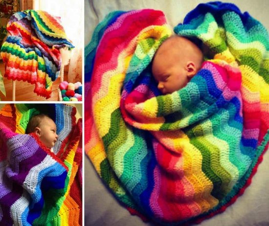 Crochet Rainbow Baby Mobile Free Pattern