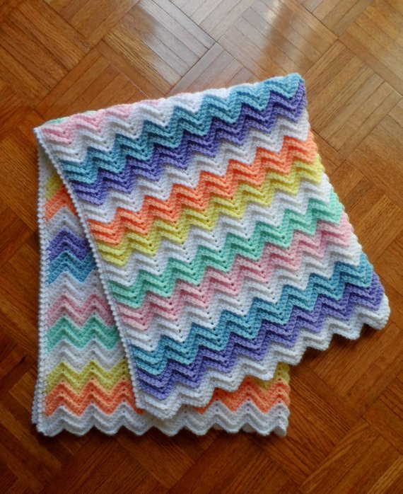 Rainbow Baby Blanket Crochet Pattern Best Of Crochet Baby Blanket Child Afghan Rainbow Of Pastel Colors Of Attractive 46 Models Rainbow Baby Blanket Crochet Pattern