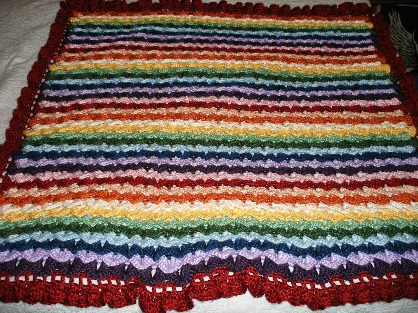 Rainbow Baby Blanket Crochet Pattern Inspirational Paper Ponies Crocheted Crocodile Stitch Rainbow Baby Blanket Of Attractive 46 Models Rainbow Baby Blanket Crochet Pattern