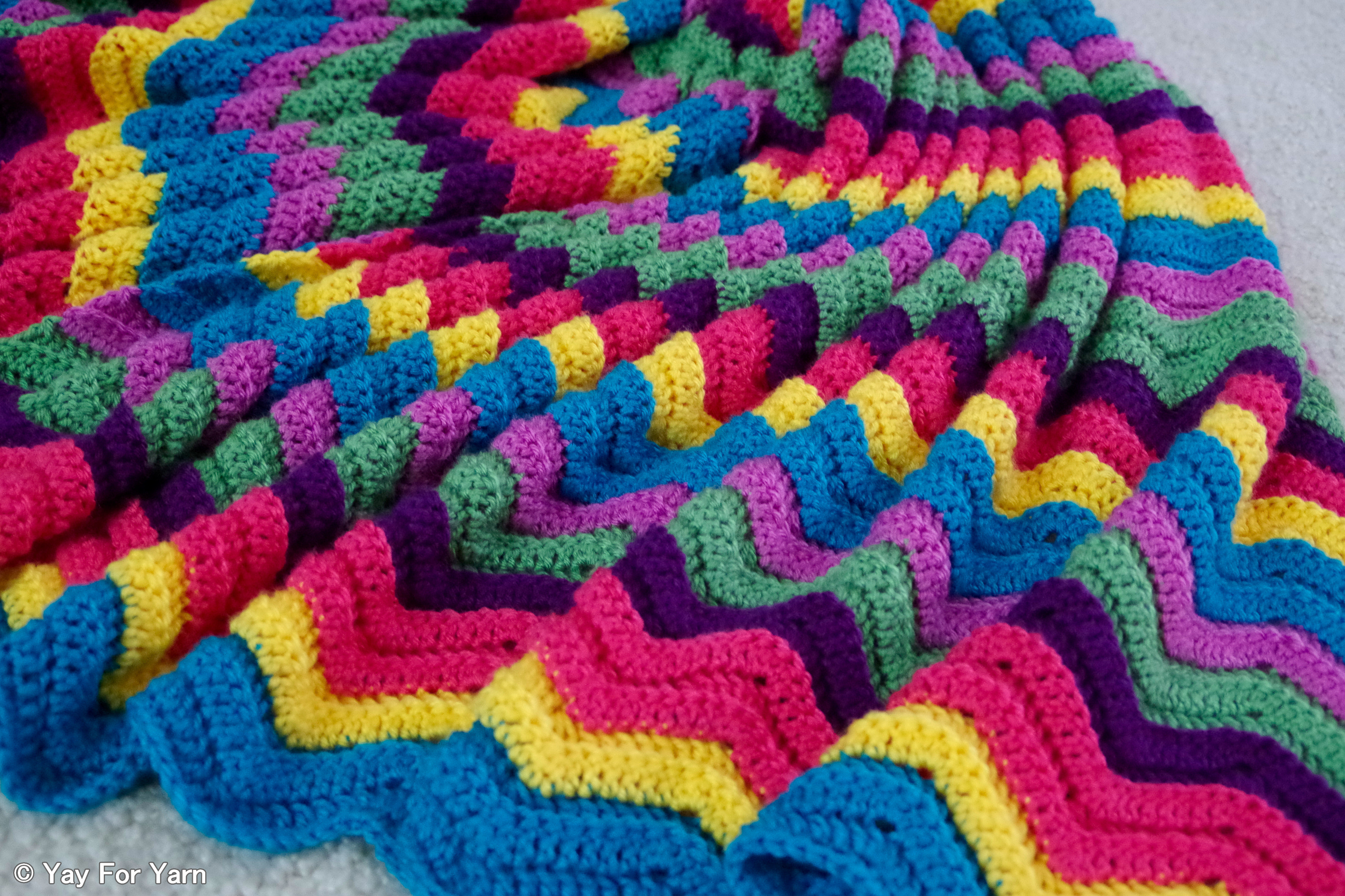 Rainbow Baby Blanket Crochet Pattern Unique Finished April Afghan – 12 Afghans In 12 Months Challenge Of Attractive 46 Models Rainbow Baby Blanket Crochet Pattern