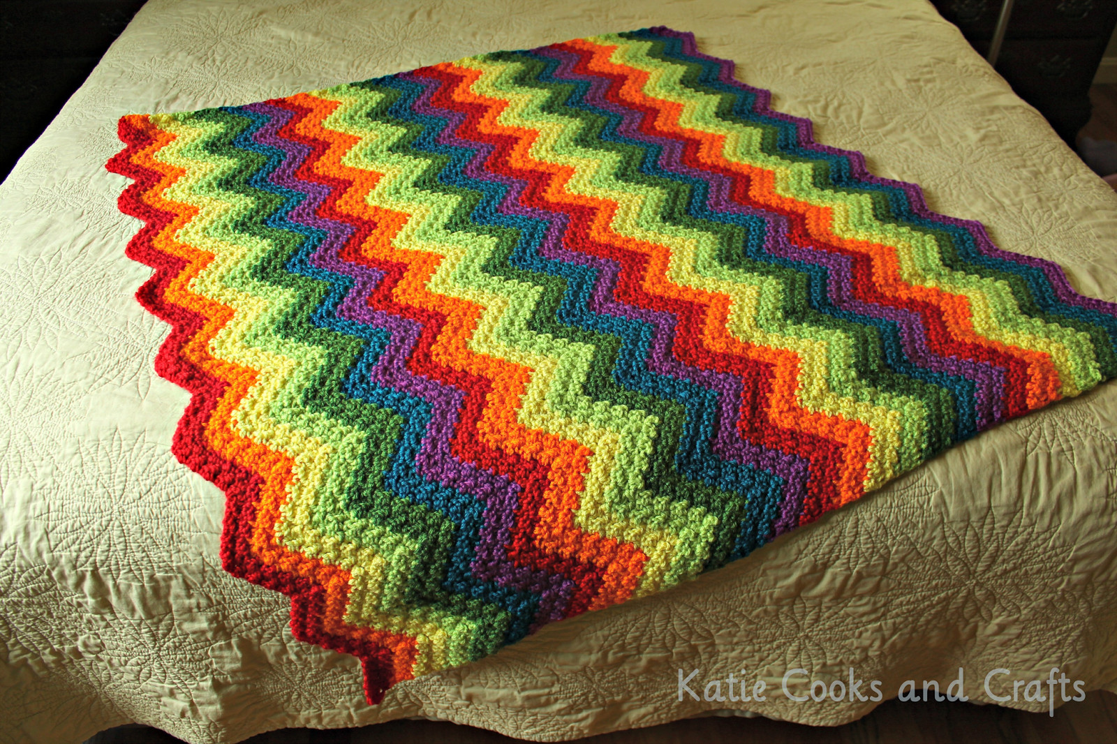 Rainbow Baby Blanket Elegant Katie Cooks and Crafts Rumpled Ripple Rainbow Crochet Of Charming 42 Ideas Rainbow Baby Blanket