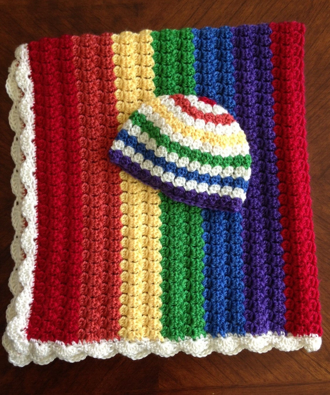 Rainbow Baby Blanket Lovely Illuminate Crochet Colors Rainbow Baby Blanket and Hat Set Of Charming 42 Ideas Rainbow Baby Blanket