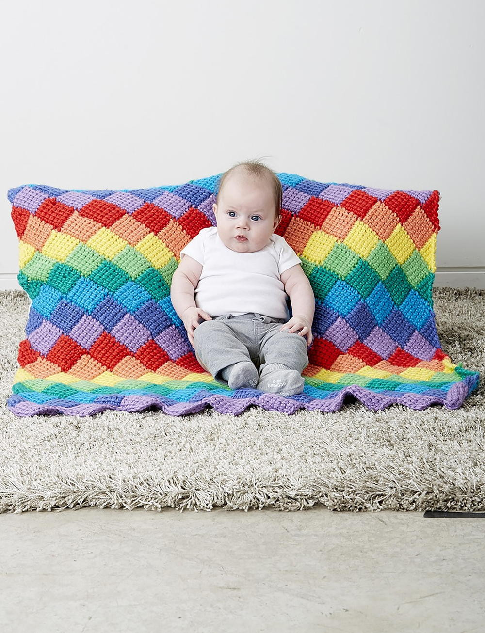 Rainbow Baby Blanket Luxury Rainbow Tunisian Entrelac Crochet Blanket Of Charming 42 Ideas Rainbow Baby Blanket