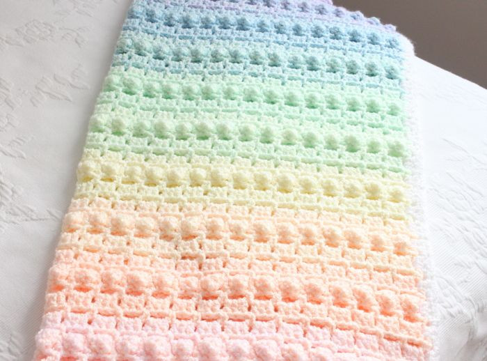 Rainbow Baby Blanket Unique Crochet Baby Blanket Rainbow Popcorn Our First Crochet Of Charming 42 Ideas Rainbow Baby Blanket