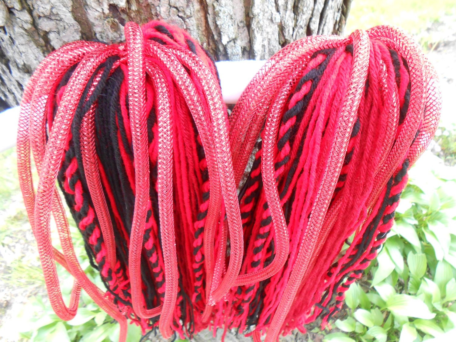 Red and Black Yarn Fresh Red and Black Yarn Hair Falls with Red Cyberlox and Yarn Of Lovely 45 Images Red and Black Yarn