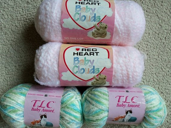 Red Baby Yarn Inspirational 4 Skeins Baby Yarn Red Heart Baby Clouds Pale Pink Super Of Attractive 48 Photos Red Baby Yarn