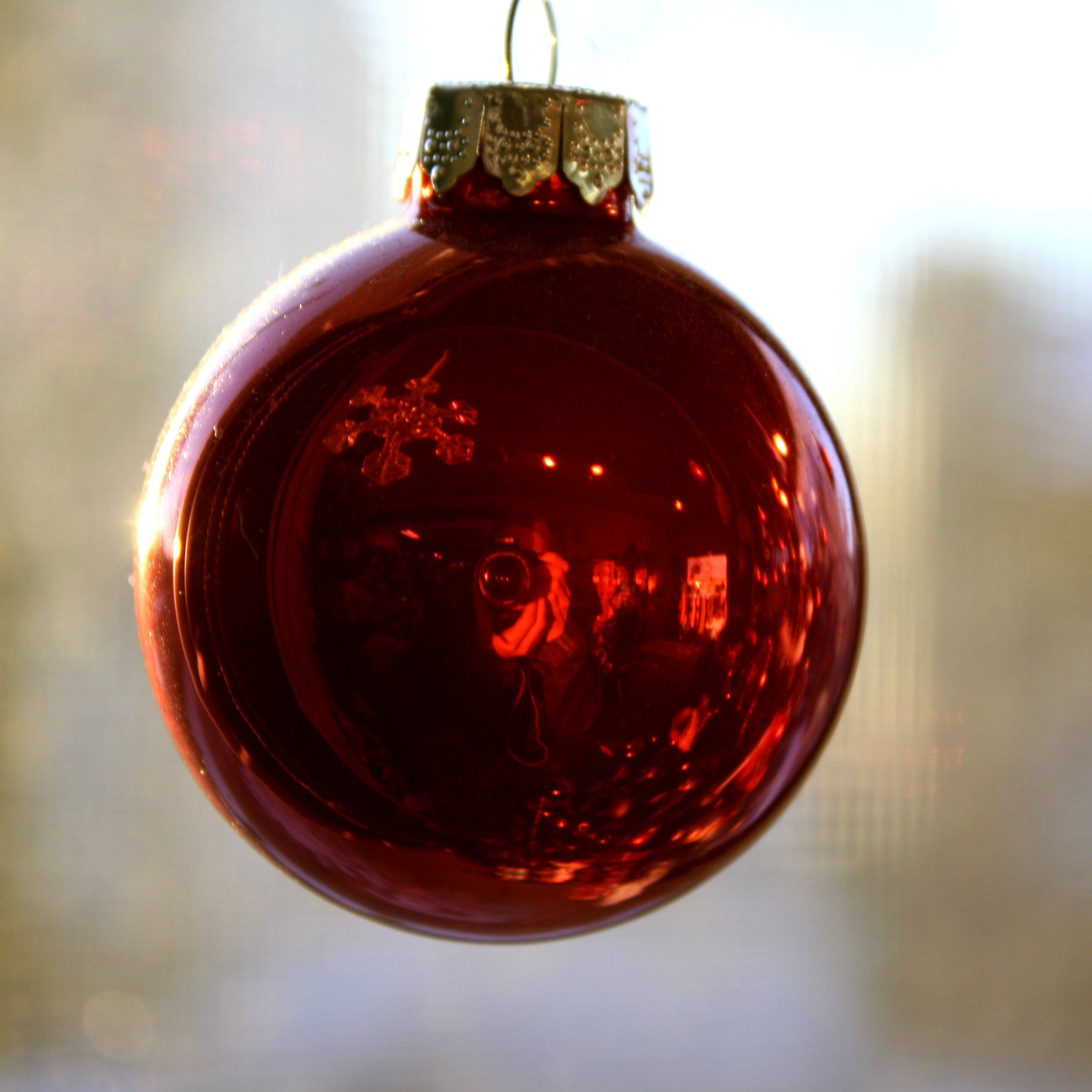 Red Christmas Ball Ornament Picture