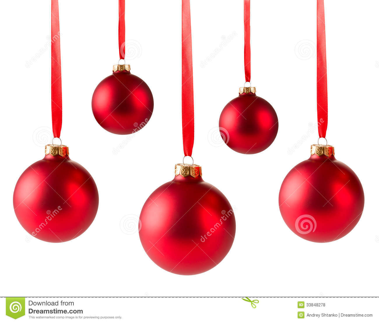 Hanging Red Christmas Ornaments – Happy Holidays