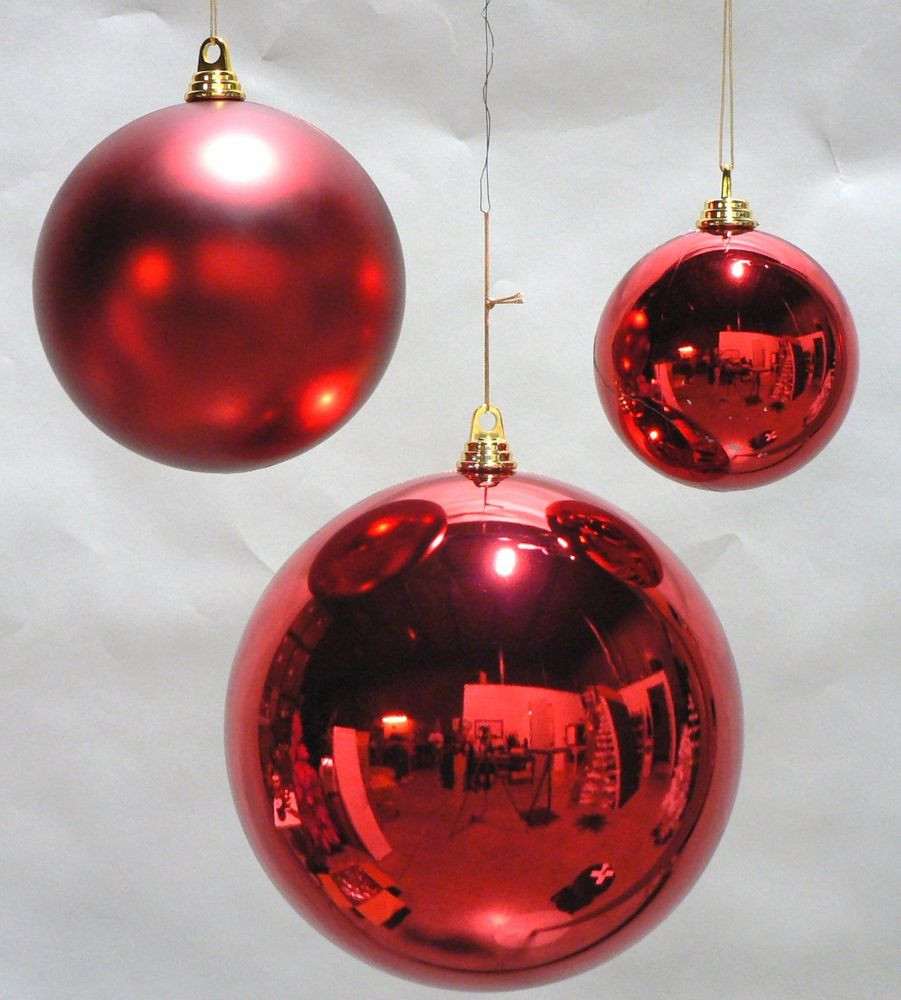 Red Christmas ornaments Luxury One Large Oversize Red Christmas Ball Plastic Shiny 200mm Of Delightful 47 Photos Red Christmas ornaments
