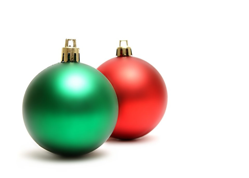 Red And Green Christmas Ornaments – Happy Holidays