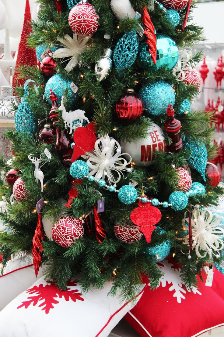 Red Christmas Tree ornaments Beautiful Christmas Decor Of Attractive 44 Pics Red Christmas Tree ornaments
