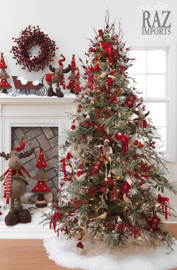 Red Christmas Tree ornaments Best Of Christmas Tree Decorations Ideas and Tips to Decorate It Of Attractive 44 Pics Red Christmas Tree ornaments