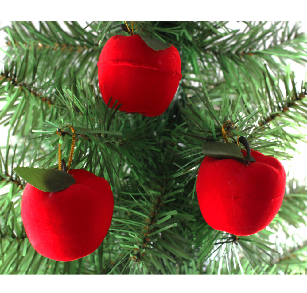 Red Christmas Tree ornaments Unique 6x Christmas Red Apple Christmas Tree Party Decorations Of Attractive 44 Pics Red Christmas Tree ornaments