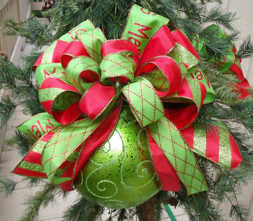 Red Christmas Tree ornaments Unique Red and Lime Christmas ornaments Bow ornament Tree Of Attractive 44 Pics Red Christmas Tree ornaments