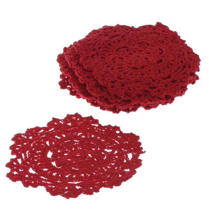Red Doilies Beautiful Red Round Crocheted Doilies Crochet and Lace Doilies Of Luxury 43 Images Red Doilies