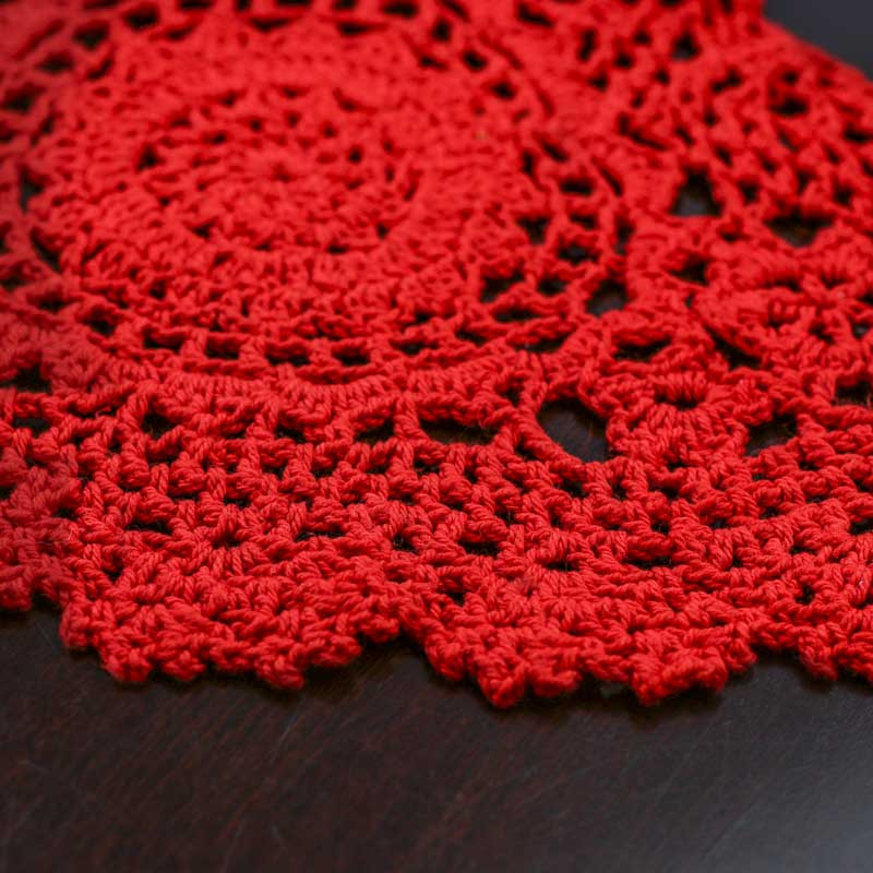 Red Heart Crocheted Doily Crochet and Lace Doilies