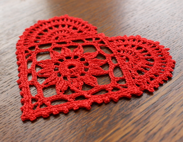 Red Doilies Elegant Red Heart Mini Crochet Doily Valentines Day Folksy Of Luxury 43 Images Red Doilies
