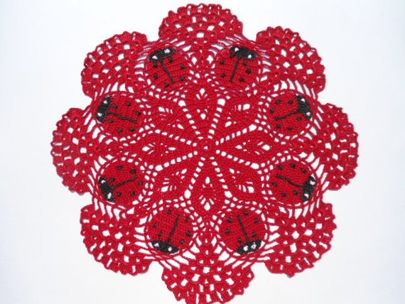 Red Doilies Inspirational Red Crochet Ladybug Doily Crochet Doilies by Kroshetmania Of Luxury 43 Images Red Doilies