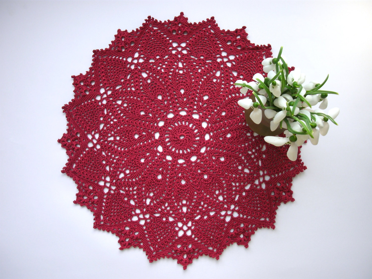 Red Doilies Luxury Red Crochet Doily 15 Inches Round Lace Doily by Of Luxury 43 Images Red Doilies