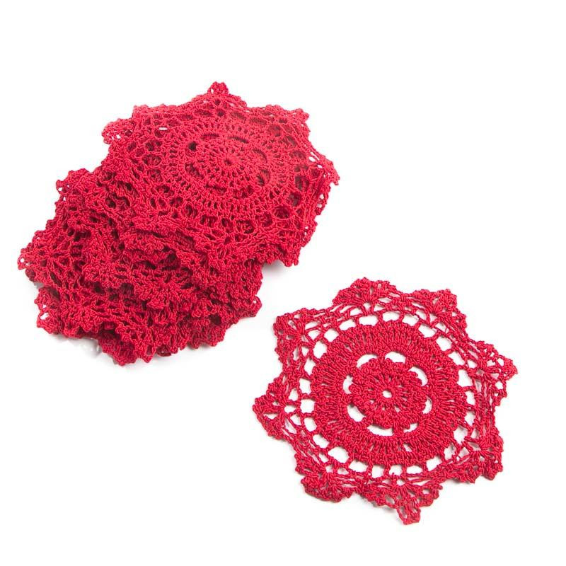 Red Doilies New Red Round Crocheted Doilies Crochet and Lace Doilies Of Luxury 43 Images Red Doilies