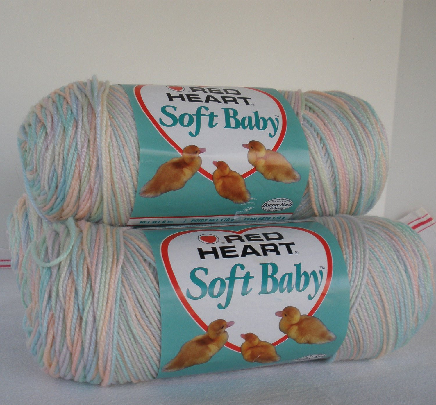 red heart soft baby yarn 3 6oz skeins